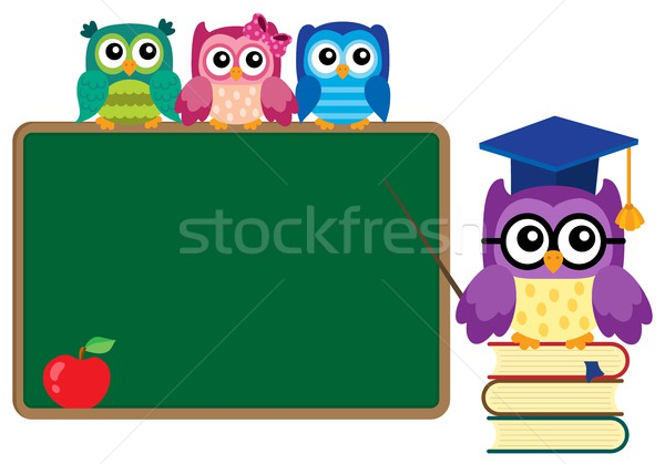 Stylized school owl theme image 4 Stock photo © clairev