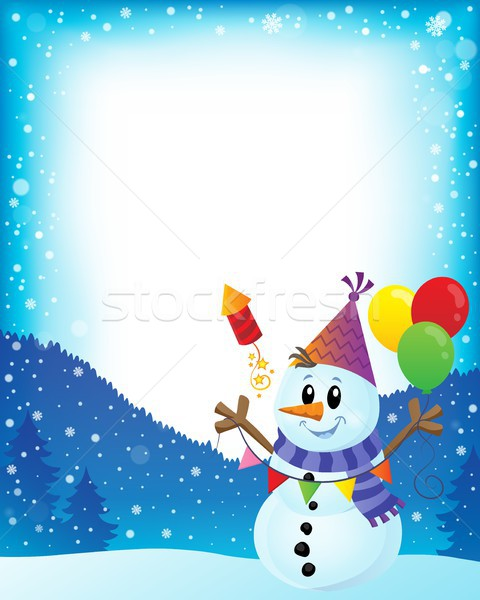 Party snowman theme image 2 Stock photo © clairev