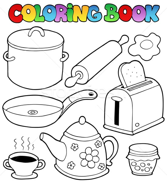 Coloring book domestic collection 1 Stock photo © clairev