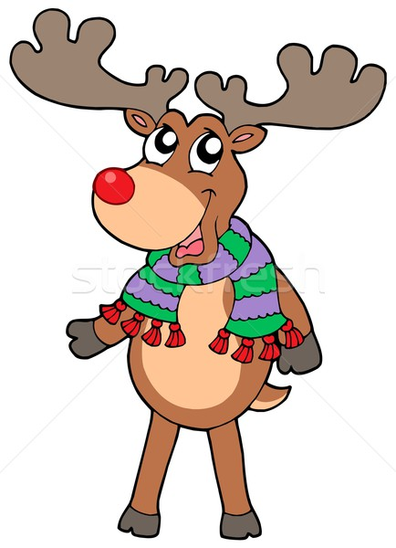 Cute standing Christmas elk Stock photo © clairev