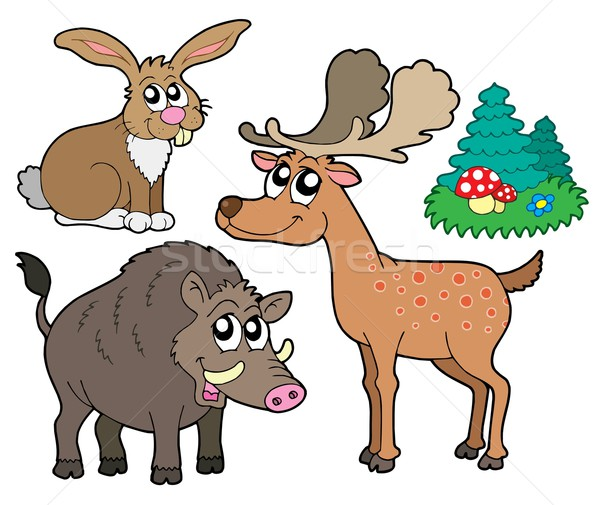 Forest animals collection 1 Stock photo © clairev