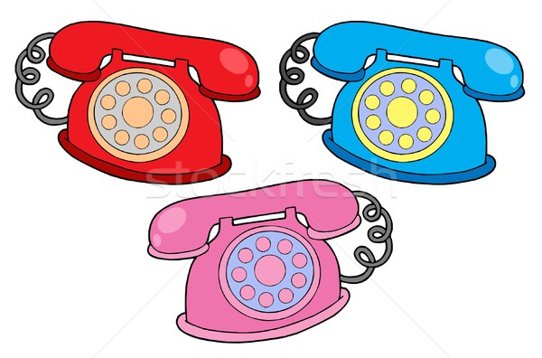 Various colors telephones vector illustration Stock photo © clairev