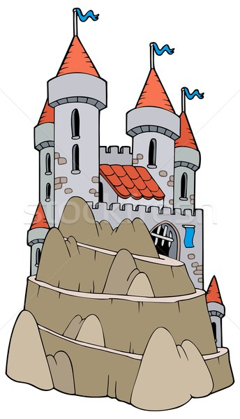 Castle on hill Stock photo © clairev