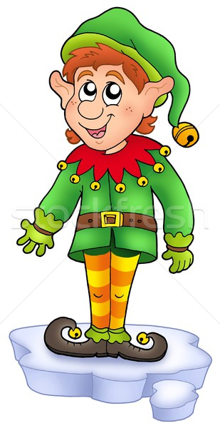 Stock fotó: Rajz · karácsony · manó · jéghegy · szín · illusztráció