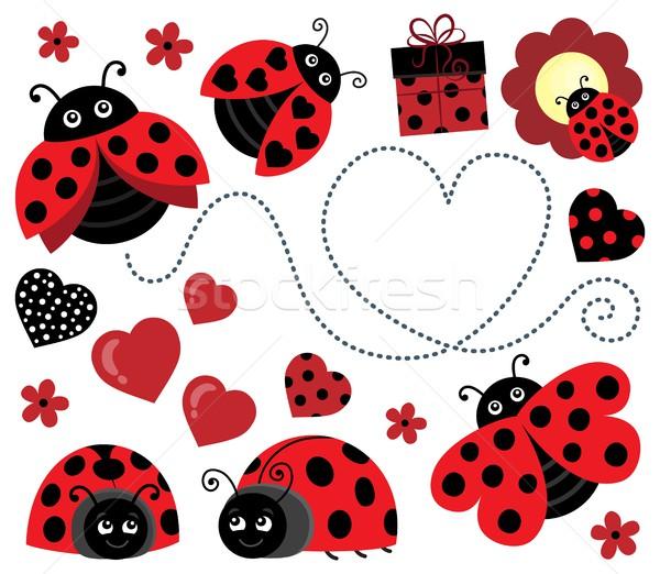 Валентин изображение счастливым сердце дизайна Сток-фото © clairev