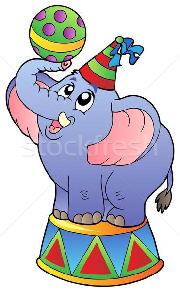 Cartoon cirque éléphant sourire fête design Photo stock © clairev