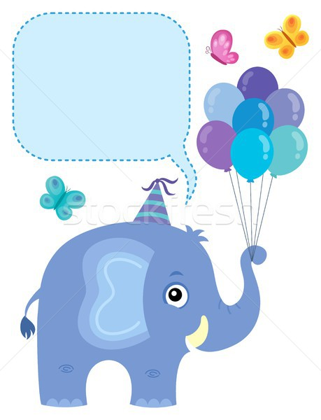 Elephant with copyspace theme 3 Stock photo © clairev