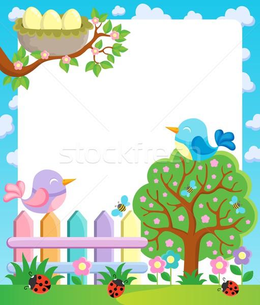 Foto stock: Quadro · primavera · natureza · projeto · arte · aves