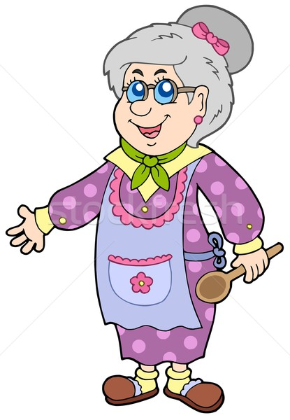Granny with spoon Stock photo © clairev