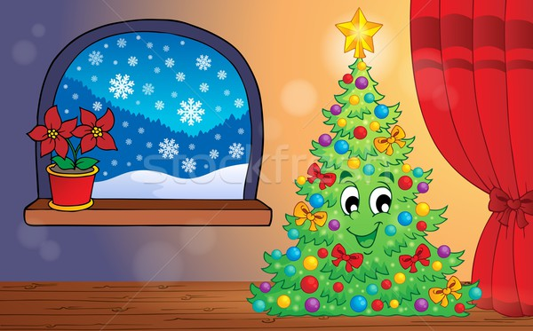 Foto stock: Natal · neve · quarto · estrela · desenho