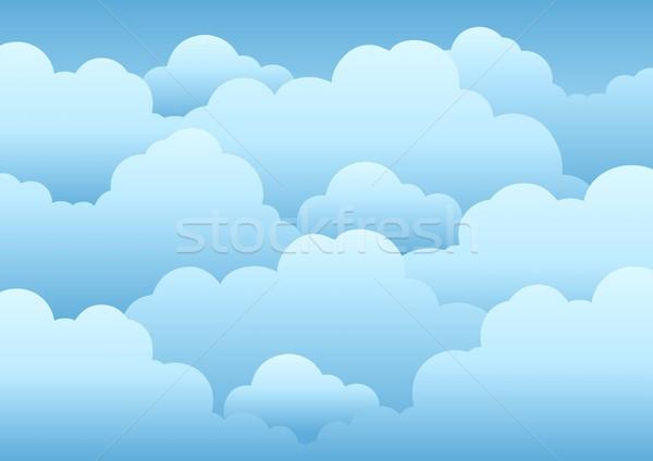 Bewolkt hemel natuur Blauw wolk tekening Stockfoto © clairev