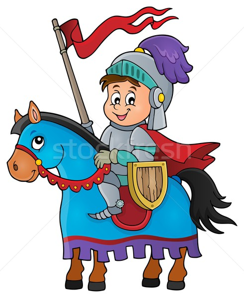 Knight on horse theme image 1 Stock photo © clairev