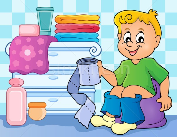 Boy on potty theme image 2 Stock photo © clairev