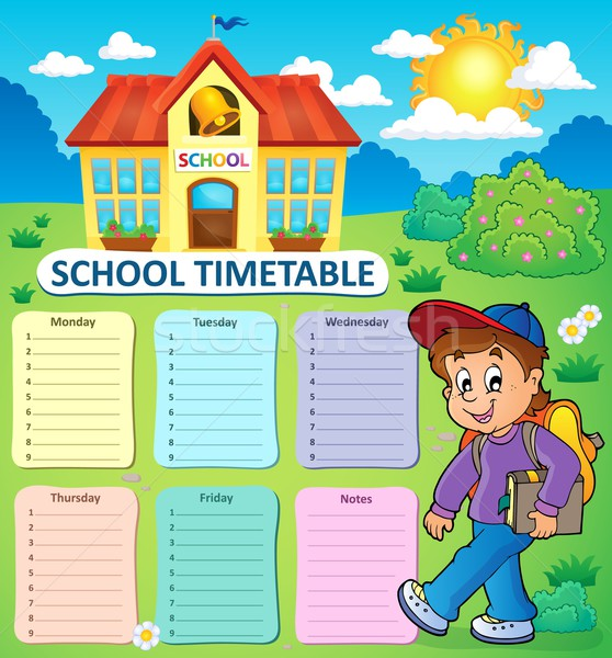 Weekly school timetable topic 2 Stock photo © clairev