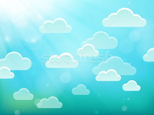 Clouds on sky theme 4 Stock photo © clairev