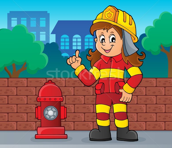 Firefighter woman image 2 Stock photo © clairev