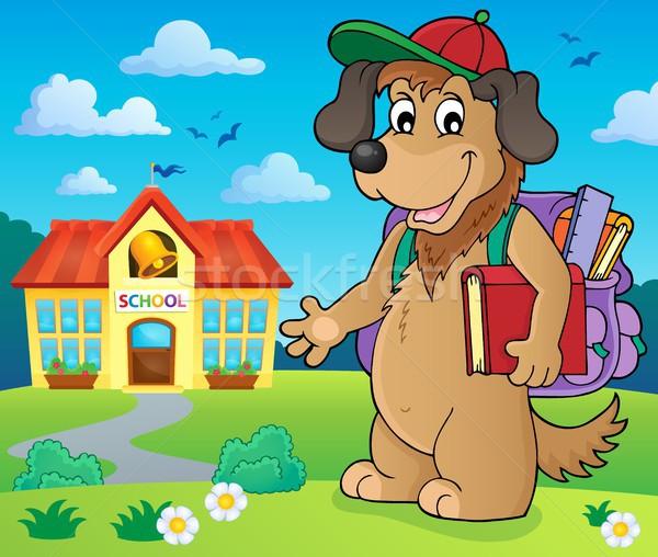 Сток-фото: школы · собака · изображение · книга · искусства · рисунок
