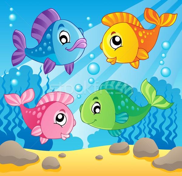 рыбы изображение счастливым природы морем искусства Сток-фото © clairev