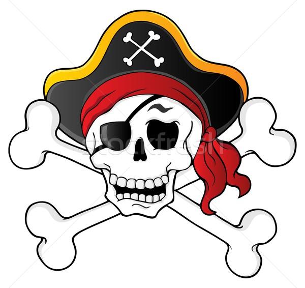 Piraat schedel kunst hoed grafische gevaar Stockfoto © clairev