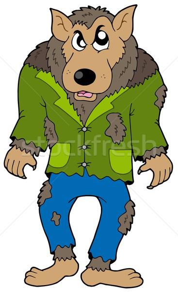 Cartoon werewolf Stock photo © clairev