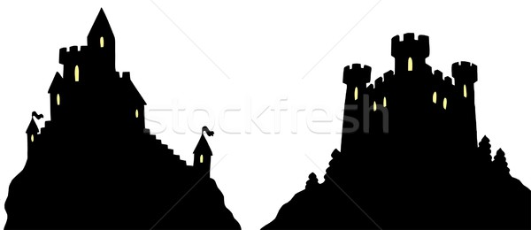 Castles silhouettes Stock photo © clairev