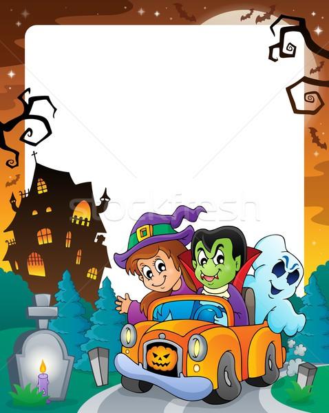 Halloween theme frame 5 Stock photo © clairev