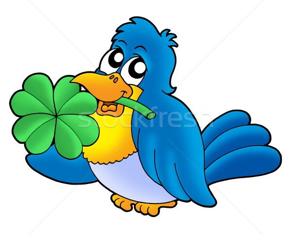 Bird with four leaves clover Stock photo © clairev