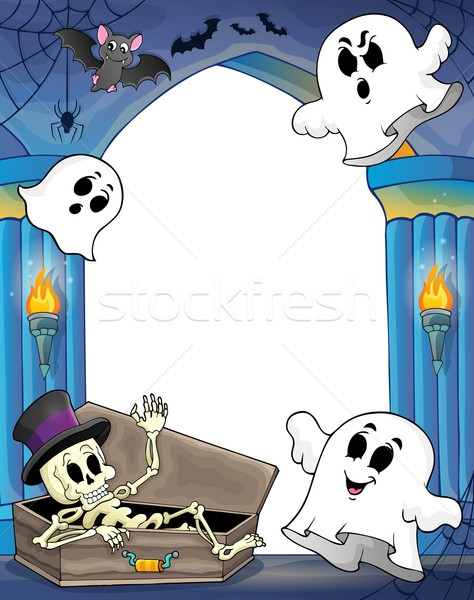 Wall alcove with Halloween theme 2 Stock photo © clairev
