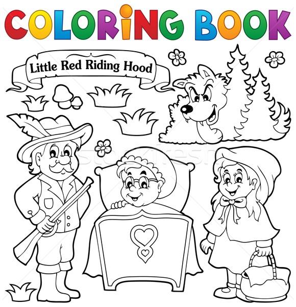 Libro para colorear cuento de hadas mujer libro nino pintura Foto stock © clairev