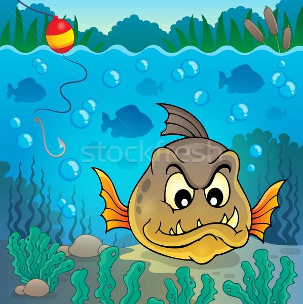 Piranha peixe subaquático natureza folha folhas Foto stock © clairev