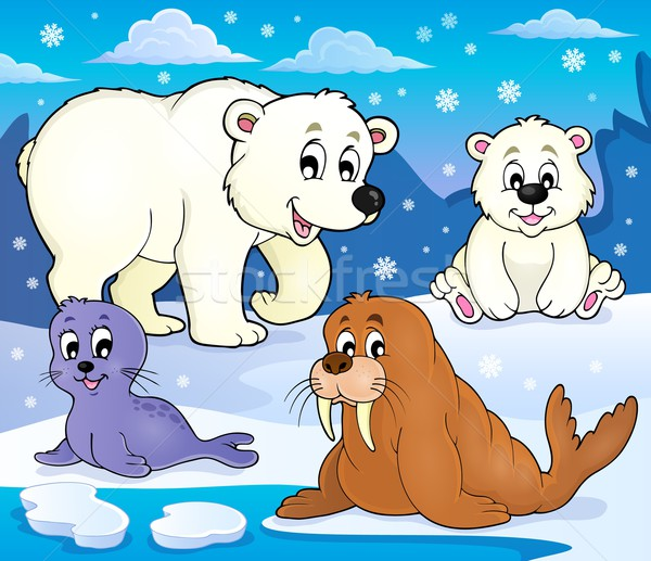 Various Arctic animals theme image 1 Stock photo © clairev