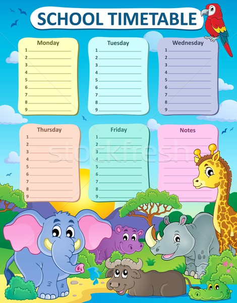 Weekly school timetable thematics 4 Stock photo © clairev