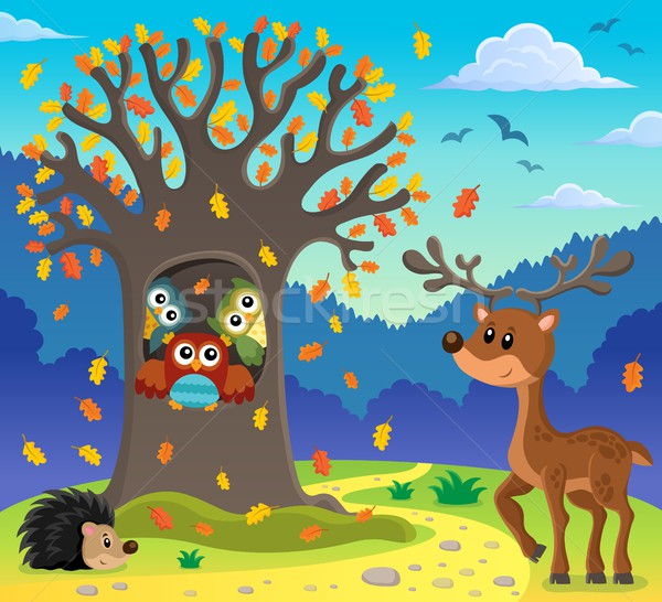 Owl tree theme image 5 Stock photo © clairev