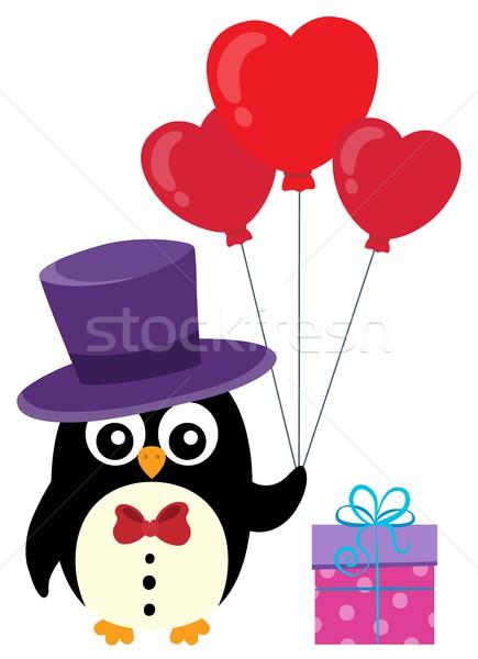Валентин пингвин тема изображение искусства птица Сток-фото © clairev