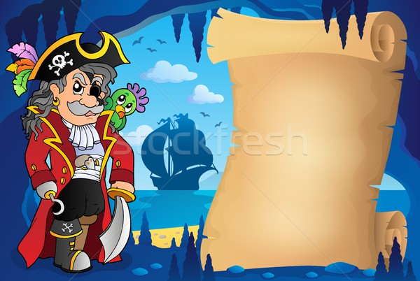 Parchment in pirate cave image 2 Stock photo © clairev