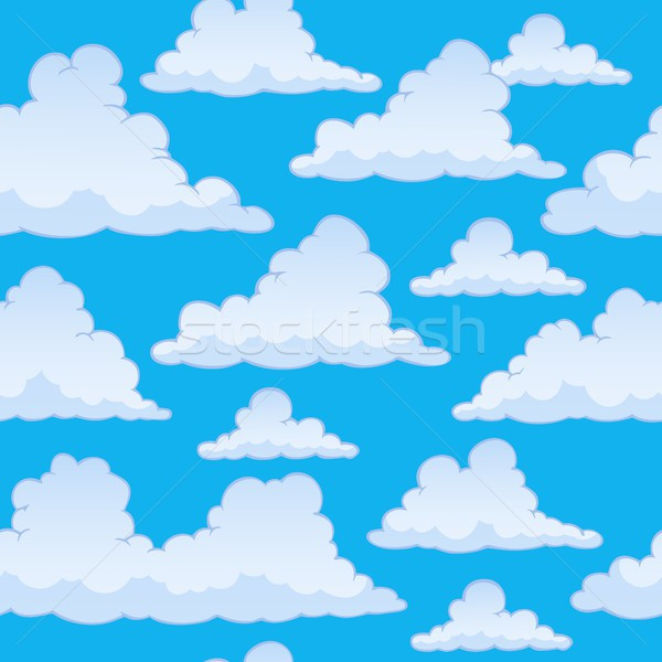 Stylized clouds seamless background 2 Stock photo © clairev