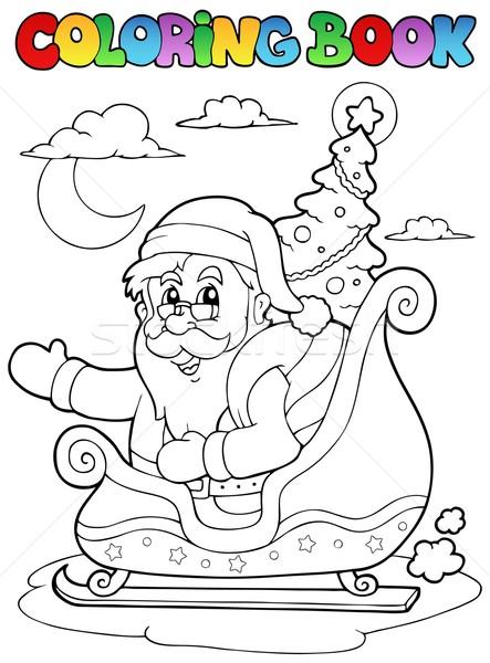 Boyama Kitabi Noel Baba Agac Kitap Dizayn Boya