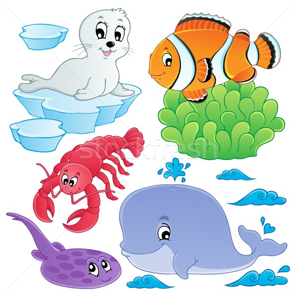 Sea fishes and animals collection 5 Stock photo © clairev