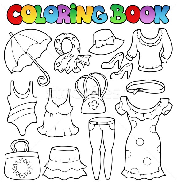 Carte De Colorat Haine Carte Vopsea Artă Sac