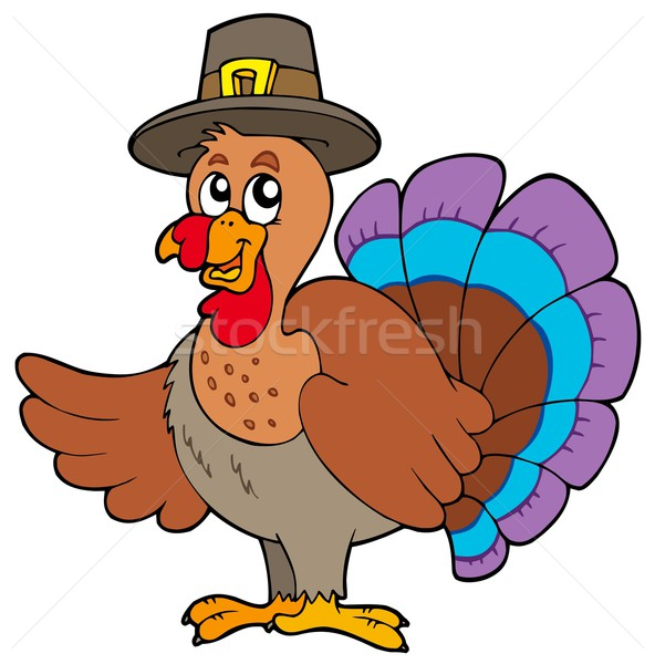 Stock photo: Thanksgiving turkey with hat