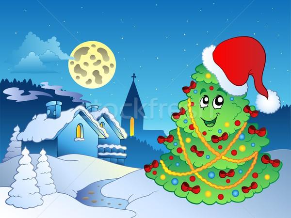 Merry Christmas theme 4 Stock photo © clairev
