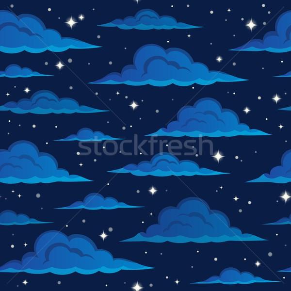 Night sky seamless background 2 Stock photo © clairev