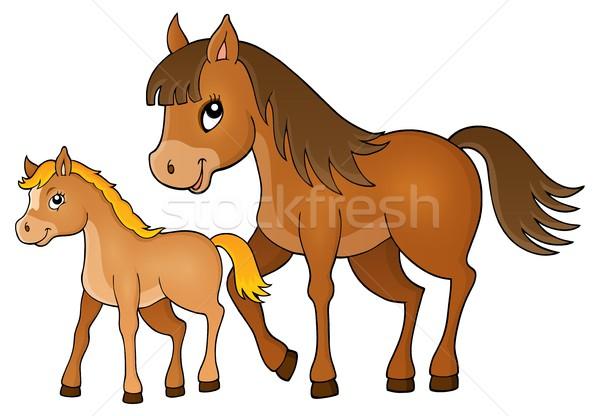 At tay görüntü sanat hayvanlar atlar Stok fotoğraf © clairev