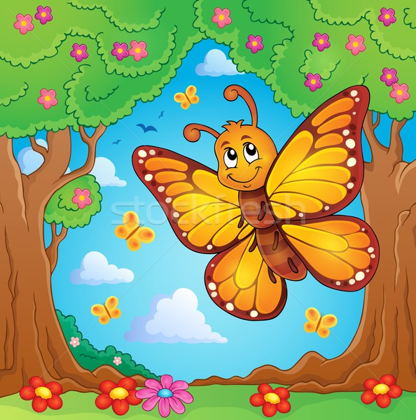 Happy butterfly topic image 4 Stock photo © clairev