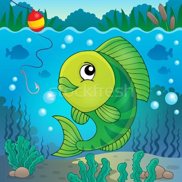 пресноводный рыбы тема изображение природы искусства Сток-фото © clairev