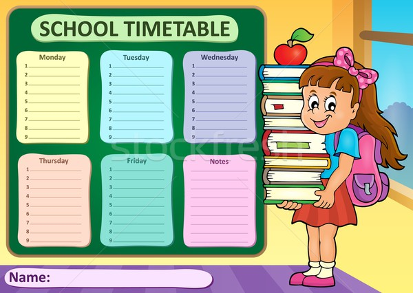 Weekly school timetable theme 4 Stock photo © clairev