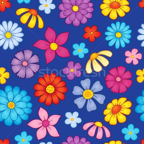 Seamless background flower theme 8 Stock photo © clairev