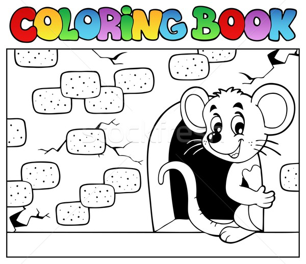 Coloring book with mouse 3 Stock photo © clairev