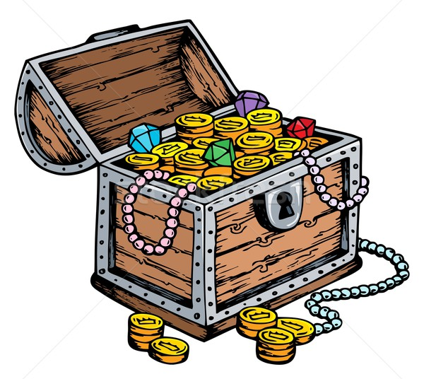 Treasure chest drawing Stock photo © clairev