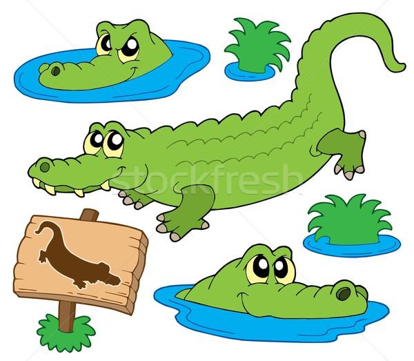 Crocodile collection Stock photo © clairev